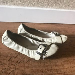 Dior ballet flat with buckle mint green
